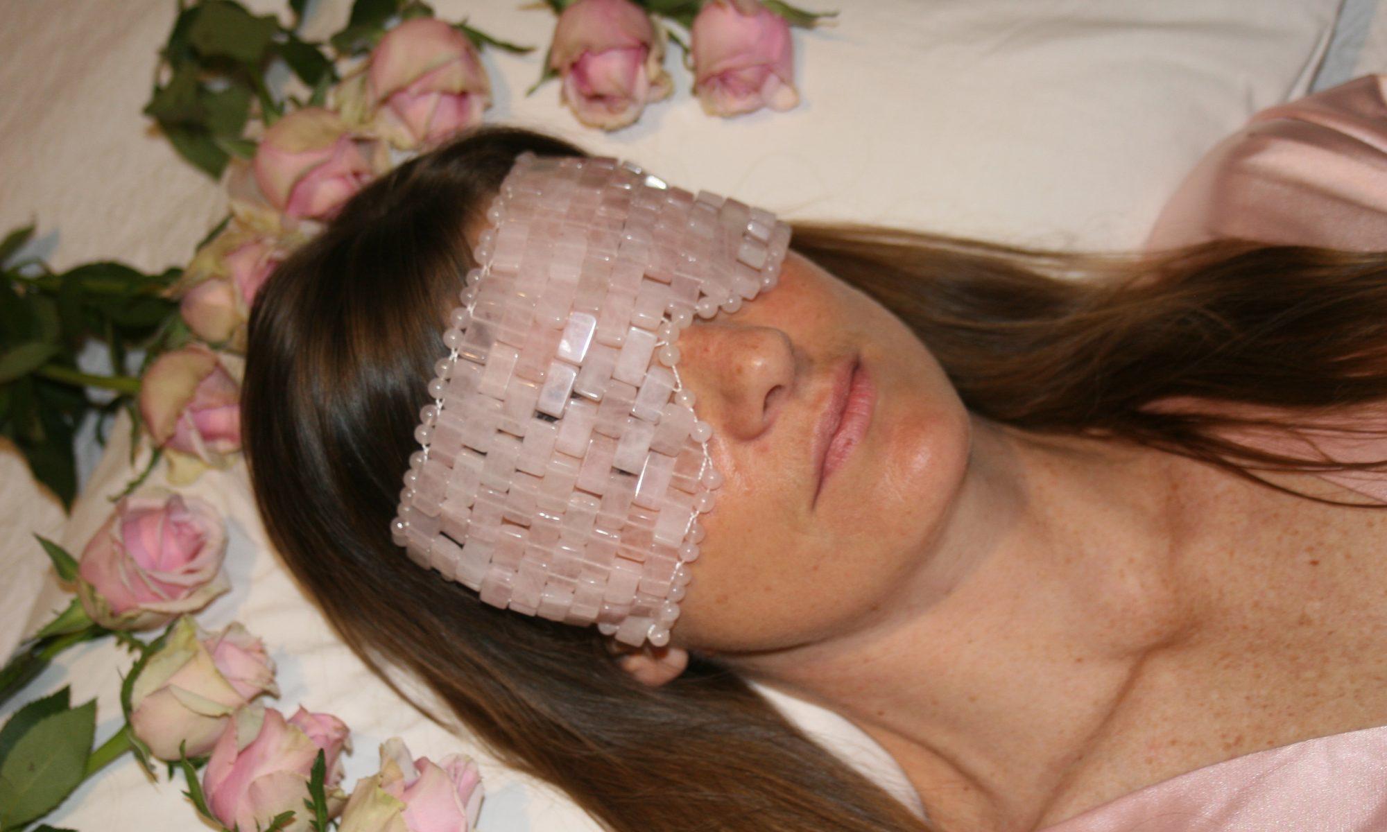Luxurious Rose Quartz Eye Mask